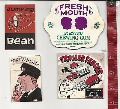 Vintage lot display Paper 4 pieces  for vending machines  FREE SHIPPING #5