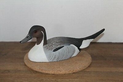 "Vintage Joe Revello, Hand Painted ""Pintail Drake"" Wood Duck Decoy, Signed"
