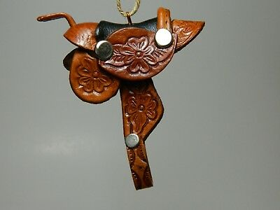 Mini Saddle Leather Mirror Ornament
