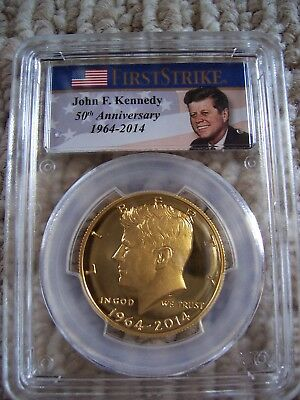 2014-W 50C Gold 50th Anniversary  PCGS PR69 First Strike  Kennedy Half Dollar