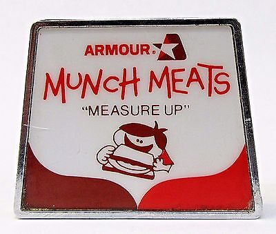 circa 1973 ARMOUR MUNCH MEATS MEASURE UP advertising tape measure *