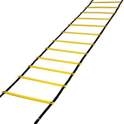 12 Rung Speed Agility Ladder Soccer Sport Ladder Workout Training w/ Carry Bag