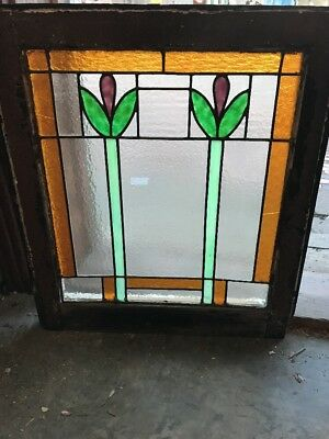 SG 1929 antique deco tulip flower to Window 20 x 22.75 hi