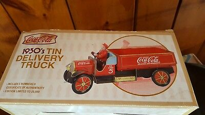Coca Cola 1930s tin delivery truck limited edition Coa new by Xonex