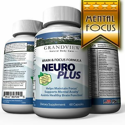 NeuroPlus Brain Booster Focus That Supports Mental Alertness, Memory, Focus, and