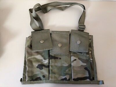 ~Nwot! Eagle Industries Us Military Multicam Bandoleer Ammo Pouch 6 Mag Molle Ii