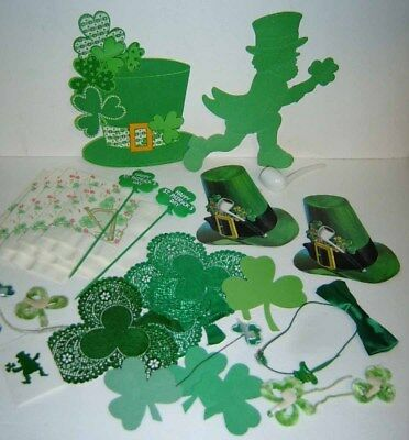 ST. PATRICK'S DAY  - Large Lot of Vintage Decorations