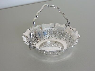 """English Silver Plate Candy Dish Reg'D PLATO EPNS 5"""" Diameter Made in England"""