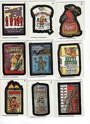 Lot of 9 O-PEE-CHEE 1992 Wacky Packages Cards -#'s 21,24,27,29,36,37,43,45 & 47