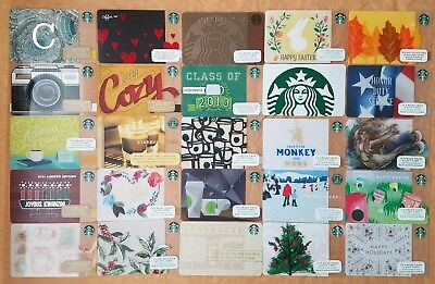 Lot 25 Starbucks gift cards Brand new Unswiped pin intact all different C more..