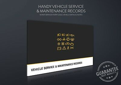 Blank Car Service History Book Maintenance Record BMW AUDI FORD VAUXHALL VW MERC