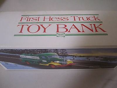 """First Hess Truck 1985 Toy """"BANK"""" In Original Box & In Mint Condition."""