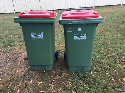 2 premium used 140ltr wheelie bins