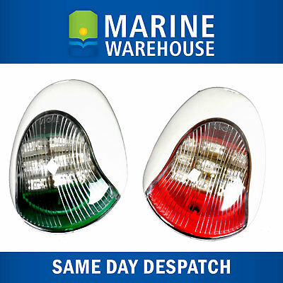 Vigil LED Navigation Lights Pair White - Nav Port Starboard High Qaulity 705152W