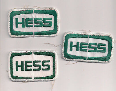 Hess Corporation Embroidered Patches - From Employee Work Shirts - 3 Ea