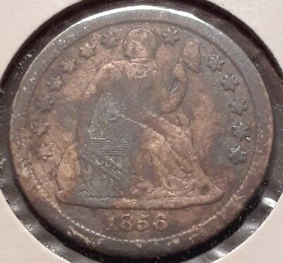 1856-O 10C Seated Liberty Dime Fine/Very Fine