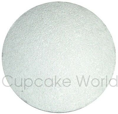 """NEW 15"""" SILVER ROUND MASONITE 5mm THICK WOOD WOODEN CAKE BOARD BASE FREE POSTAGE"""
