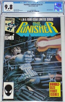 Punisher Limited Series #1 CGC graded 9.8 from Jan 1986 Jigsaw appearance