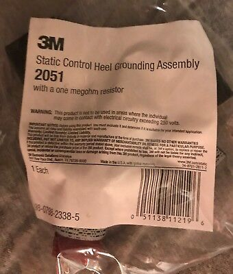 3M Static Control Heel Grounding Assembly 2051   Box of 25  NEW