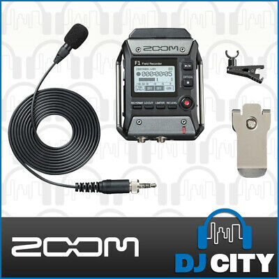 Zoom F1 Field Recorder With Lapel Microphone Portable Interview Audio Recorder