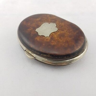 Antique Simulated Tortoiseshell And EPNS Mounted Coin Purse