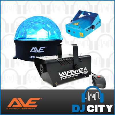 Complete Party Lighting Pack with Starball Light, Laser Light & Smoke Machine