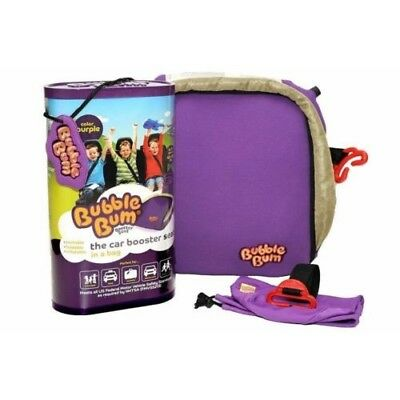 PURPLE Bubble Bum Bubblebum Booster Seat ~ 40-100 lbs ~ Portable Inflatable
