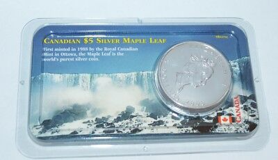 2000 Canadian Maple Leaf $5 Silver 1 ounce Coin Uncirculated
