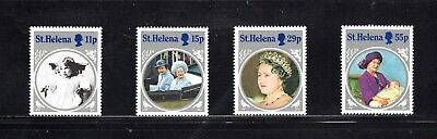St Helena 1985 Life & Times of Queen Mother SG 454/7 MUH
