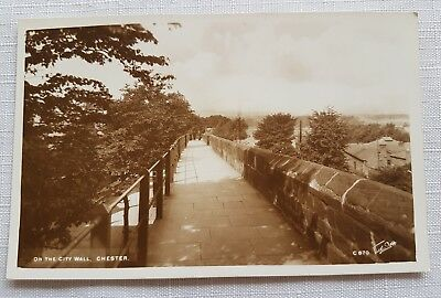 ON THE WALL CHESTER WALTER SCOTT Real Photograph Postcard-Vintage Unused BRITIAN