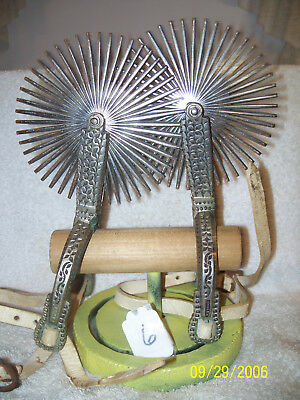 """Vin/Ant South American Nichol Silver Gaucho Spurs With 5""""  Musical Rowels CHILE"""