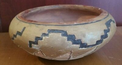 Antique Native American Pottery Bowl