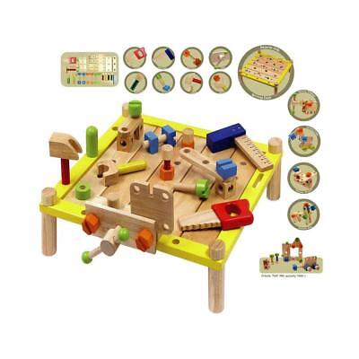CleverStuff Wooden Activity Work Bench Kids Children Learning Educational Toy