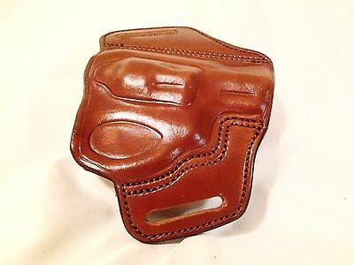 HANDMADE LEATHER MINIMAL Holster for Ruger LCR in antiqued Brown