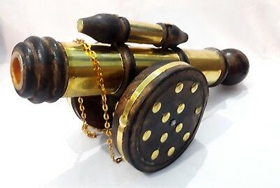 Antique Metal And Wood Cannon Collectible Home Decorative Gift