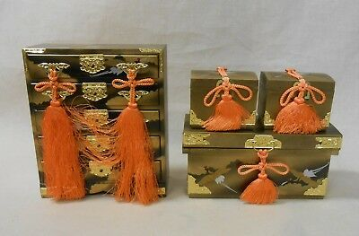 601 Japanese Chest of Drawers TANSU & Boxes NAGAMOCHI / Ornament for HINA Doll