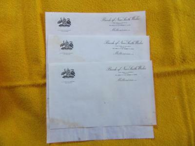 1930's Circa Bank of New South Wales Melbourne Victoria Letters Addressed to Man