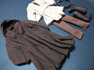 "1/6 Jedi Star Wars Qui Gon Jinn outfit for Sideshow hot toys 12"" Figure Clothing"