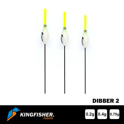"""POLE FISHING FLOATS - The Kingfisher """"Dibber 2"""" Pack of 3 HIGH QUALITY ROHACELL"""