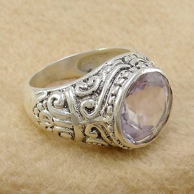 Amethyst 925 Sterling Silver US Size 7.25 Ring Band Exclusive Jewelry SJR7948N
