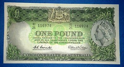 1961 Australia Coombs/Wilson £1 One Pound banknote - very high grade