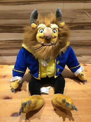 """Disney Store Beast from Beauty And The Beast Large 22"""" Soft Toy Plush"""
