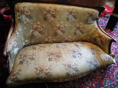 Antique sofa settee in need of restoration