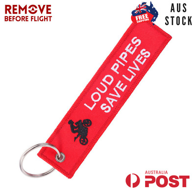 Loud Pipes Jet Tag Keychain Key Ring Aus Stock