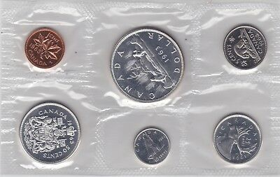 Original Canada 1963 Proof Like Coin Year Set--Must See!!
