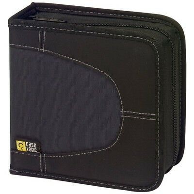Case Logic(R) CDW-32BLACK Nylon CD Wallets (32 Disc)