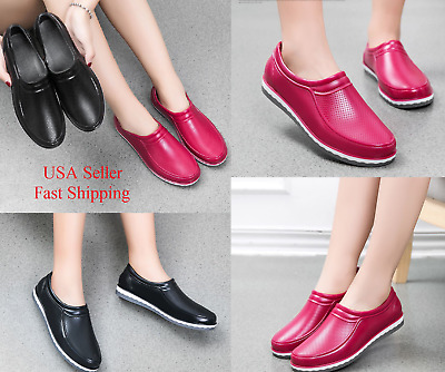2018 Women Restaurant Oil Resistant Kitchen Work Shoes Non Slip Water Rain Shoe