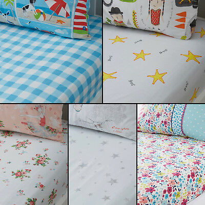 Stars Floral Ballerina Check Kids Childrens Fitted Bed Sheets Multi