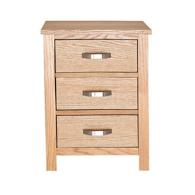 Panana Oak Bedside Table Light Oak Bedside Cabinet Solid Wood Nightstand Home