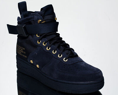 958a85049b36 Nike SF Air Force 1 Mid Obsidian Suede AF1 men lifestyle sneakers NEW 917753 -400